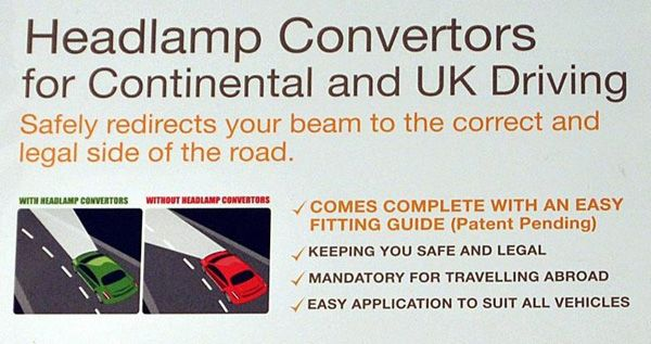 Headlamp Converters For Driving In France